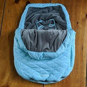 EUC JJ Cole Bundle Me Carseat Cover Blanket